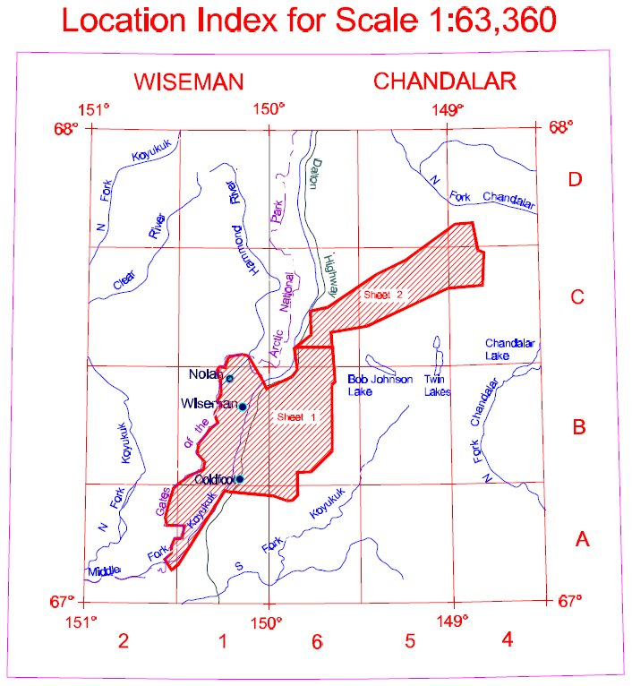 Geophysics Order Forms  Koyukuk  Wiseman  Alaska