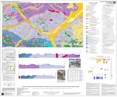 Geologic map of the Tok River area, Tanacross A-5 and A-6 quadrangles, eastern Alaska Range, Alaska